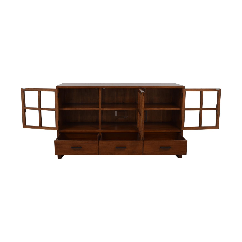Crate & Barrel Sideboard with Glass Doors Crate & Barrel