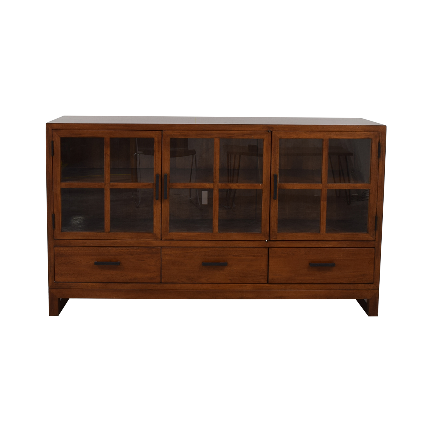 Crate & Barrel Sideboard with Glass Doors / Storage