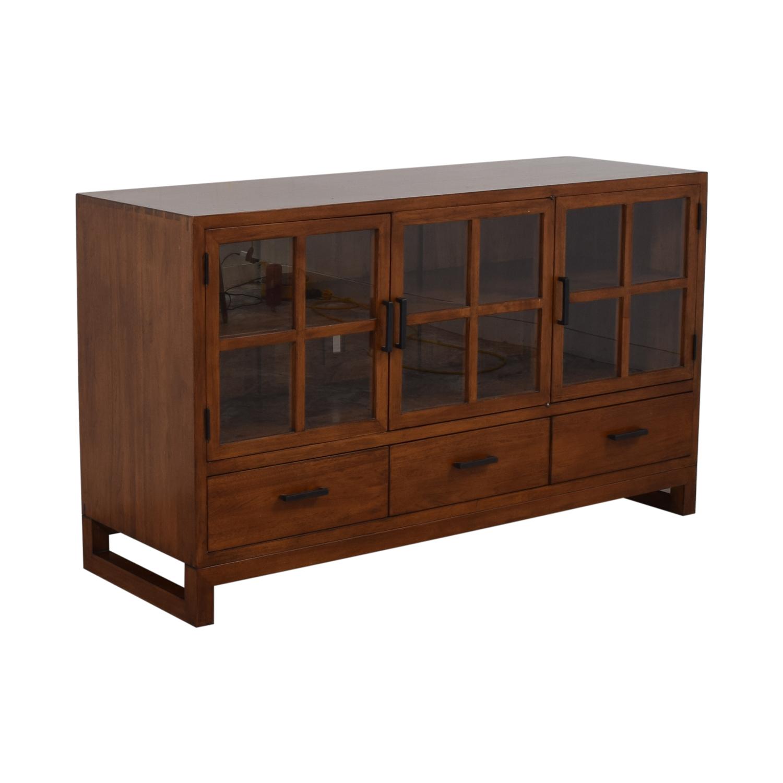 Crate & Barrel Crate & Barrel Sideboard with Glass Doors discount