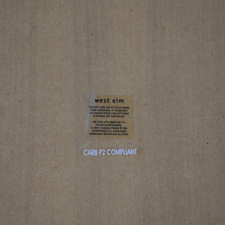 West Elm West Elm Parsons Floor Mirror - Gray Herringbone on sale