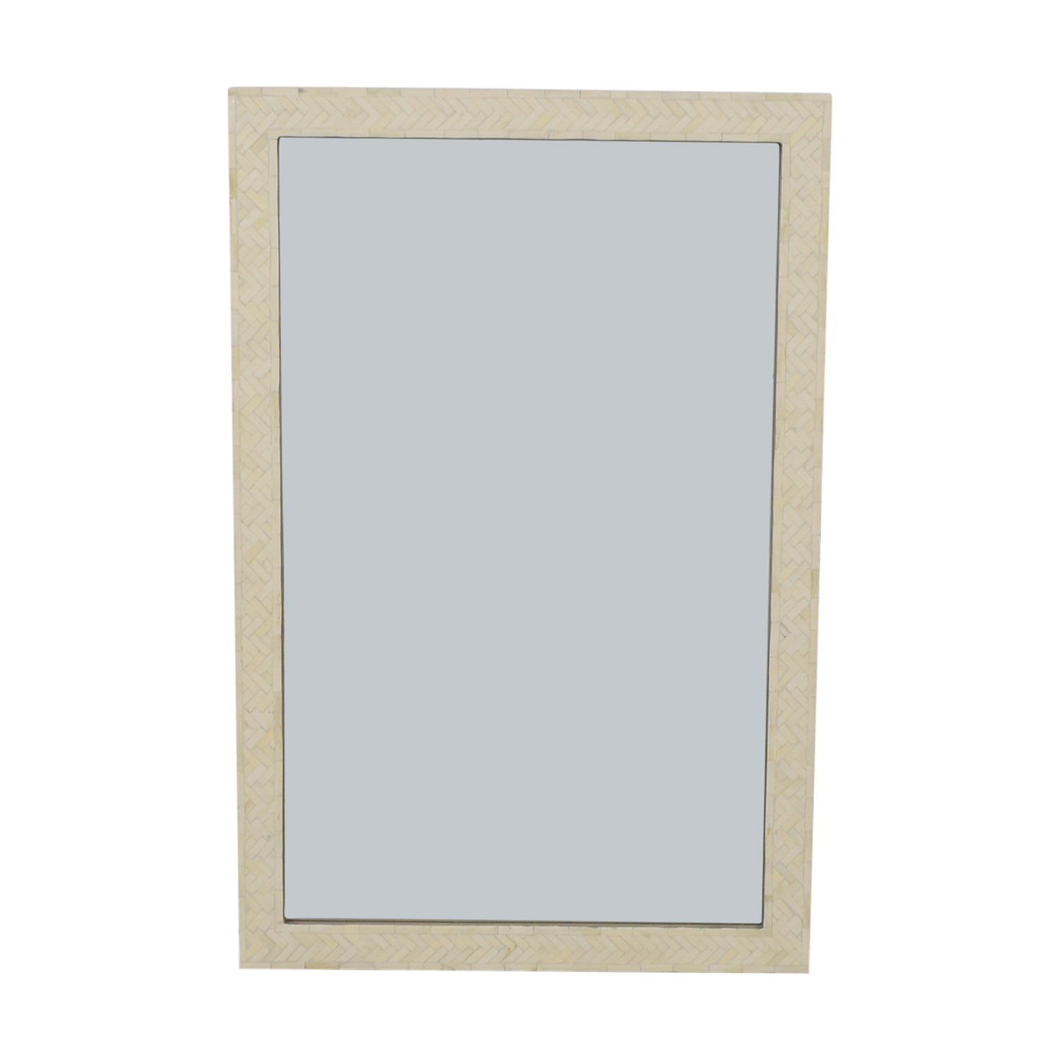 West Elm West Elm Rectangular Mosaic Mirror White