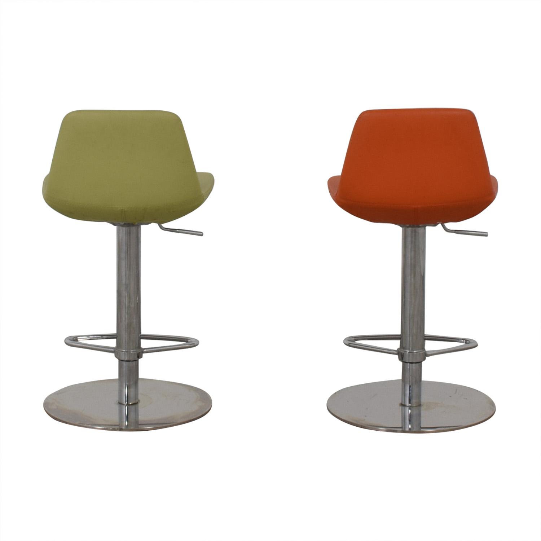 BiF Furniture Orange and Green Bar Stools BiF Furniture