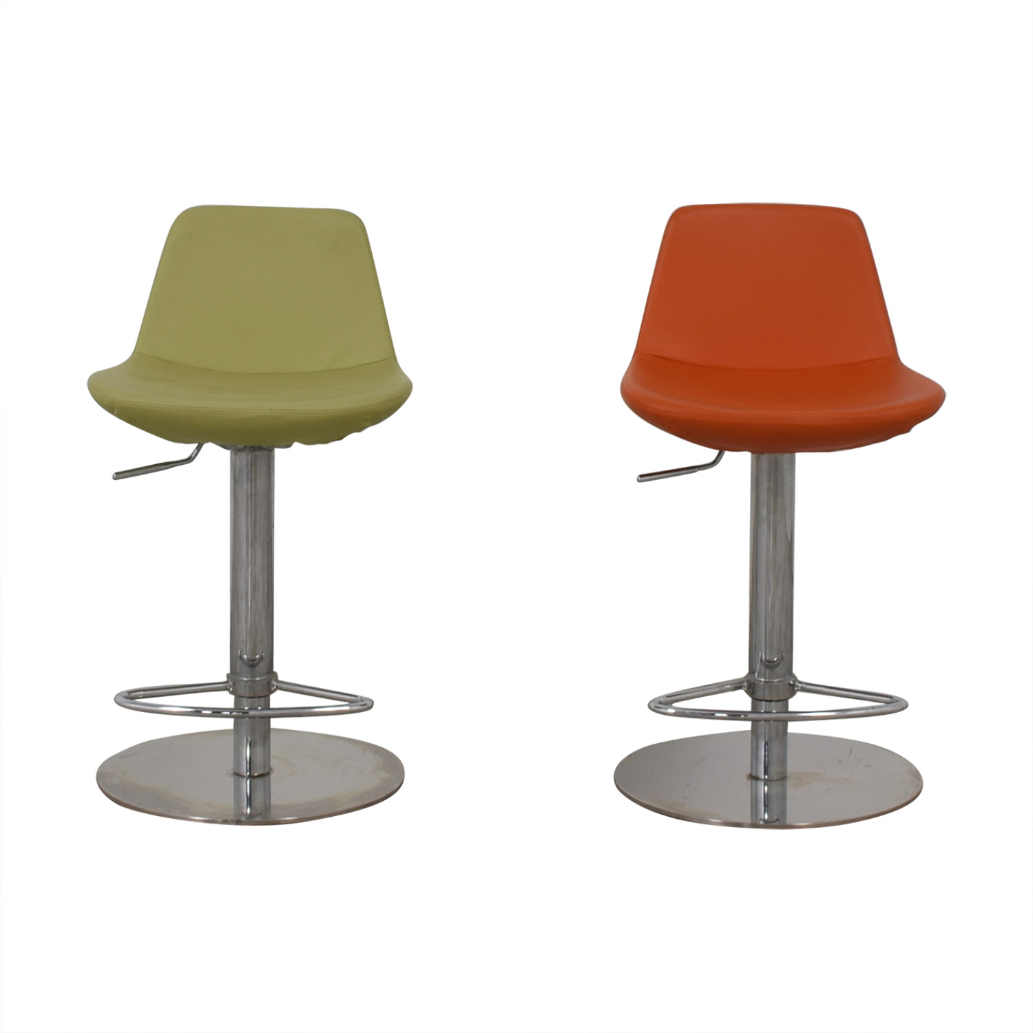 BiF Furniture Orange and Green Bar Stools sale