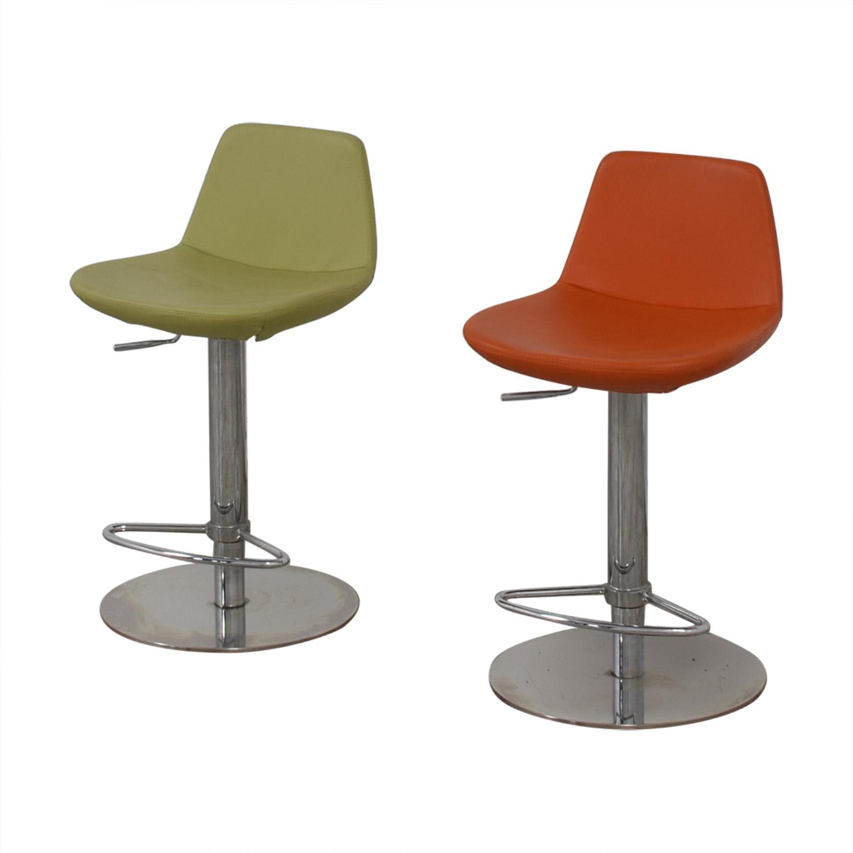 buy BiF Furniture Orange and Green Bar Stools BiF Furniture Stools