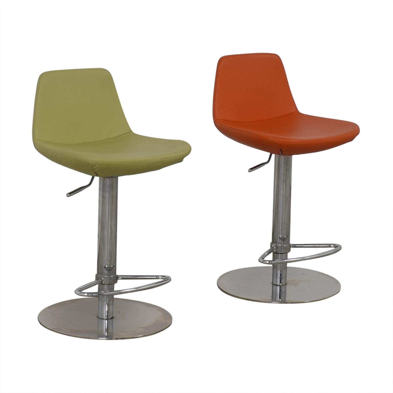 shop BiF Furniture Orange and Green Bar Stools BiF Furniture