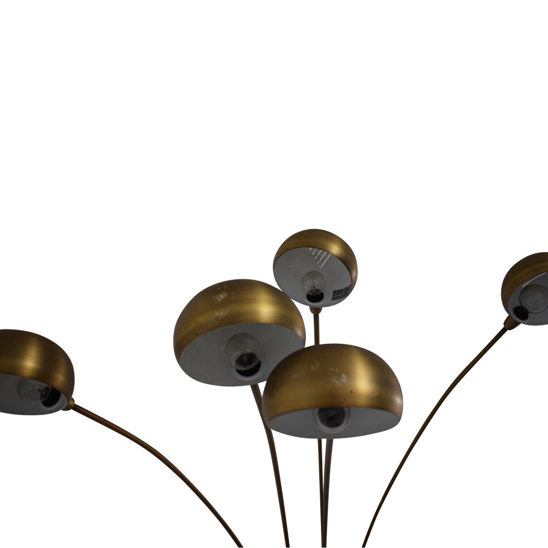 BiF Furniture BiF Furniture Arching Floor Lamp gold