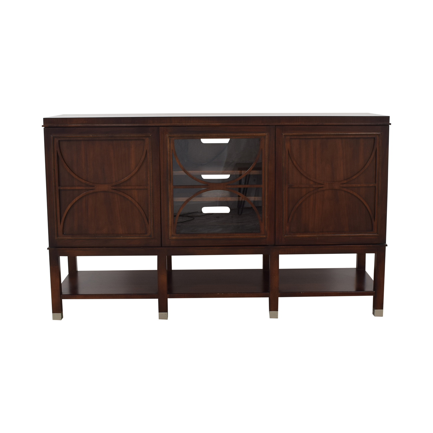Hickory White Hickory White Walnut Media Cabinet used