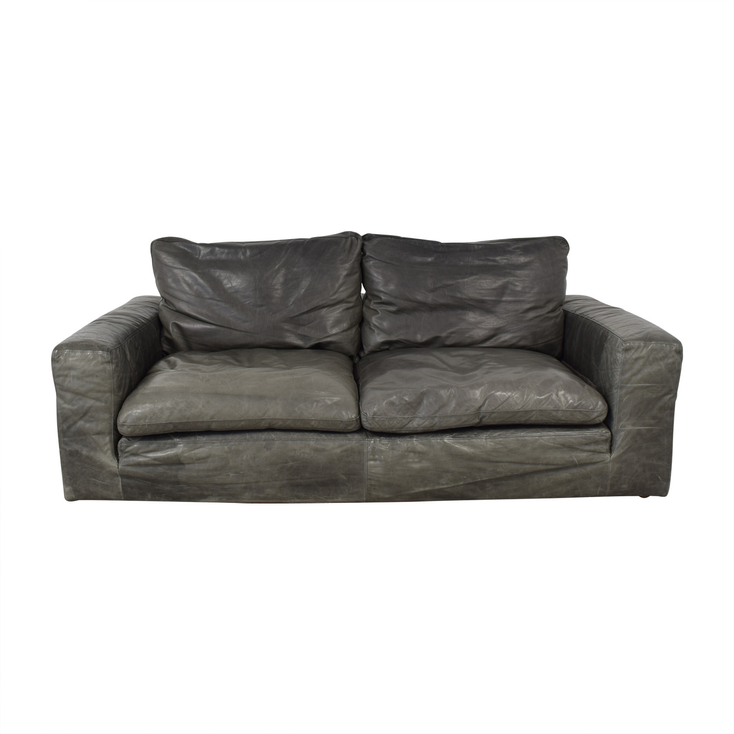 Restoration Hardware Restoration Hardware Cloud Leather Two-Seat-Cushion Sofa second hand