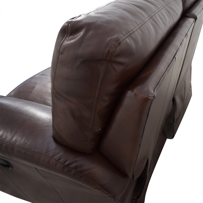 La Z Boy Oscar Leather Reclining Love Seat / Sofas