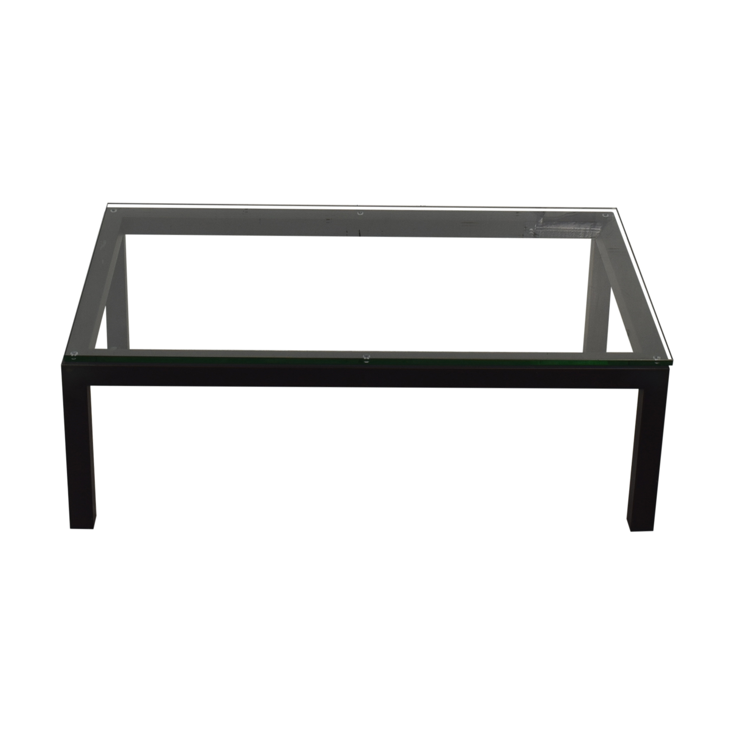 shop Crate & Barrel Crate & Barrel Parsons Clear Glass Top Table online