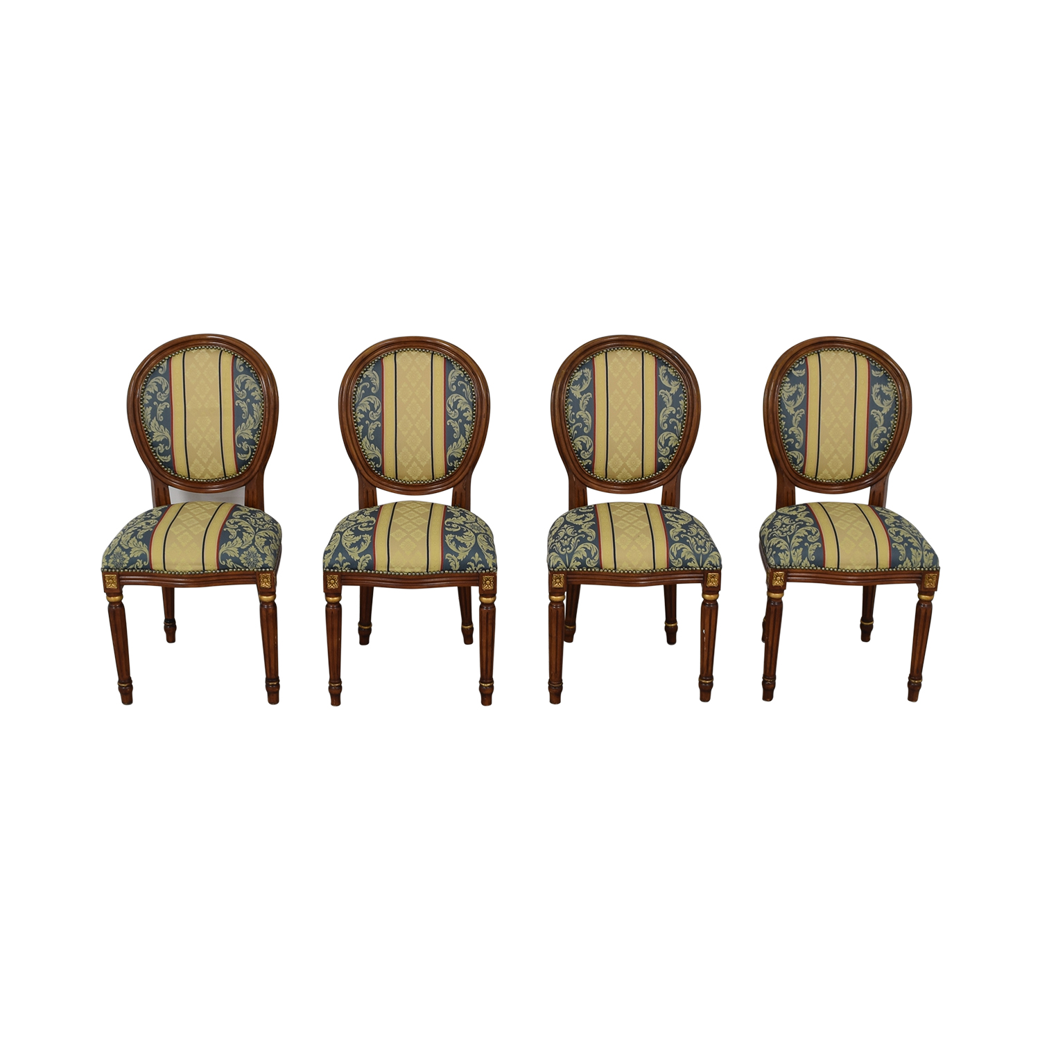 Vintage Upholstered Dining Chairs / Chairs