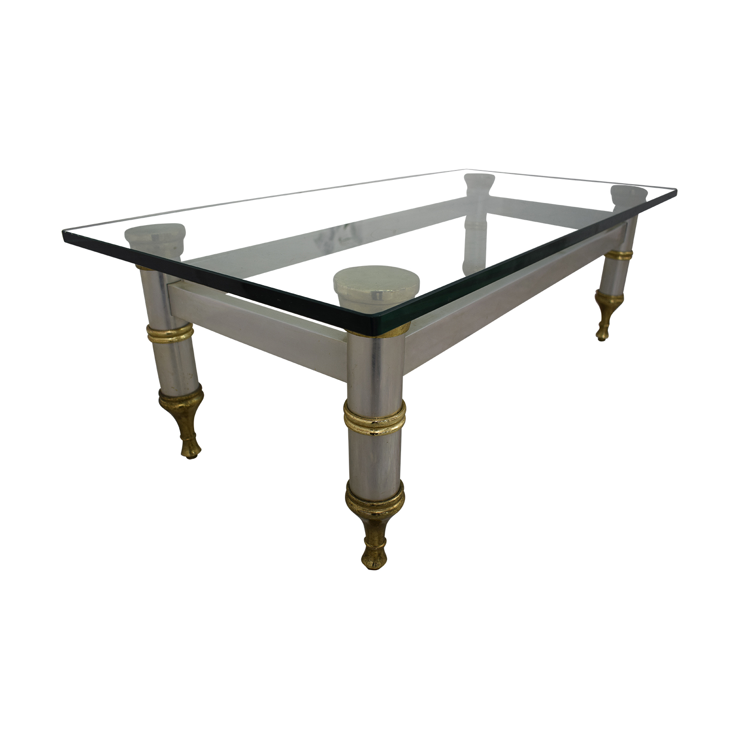 shop Glass Topped Coffee Table  Tables