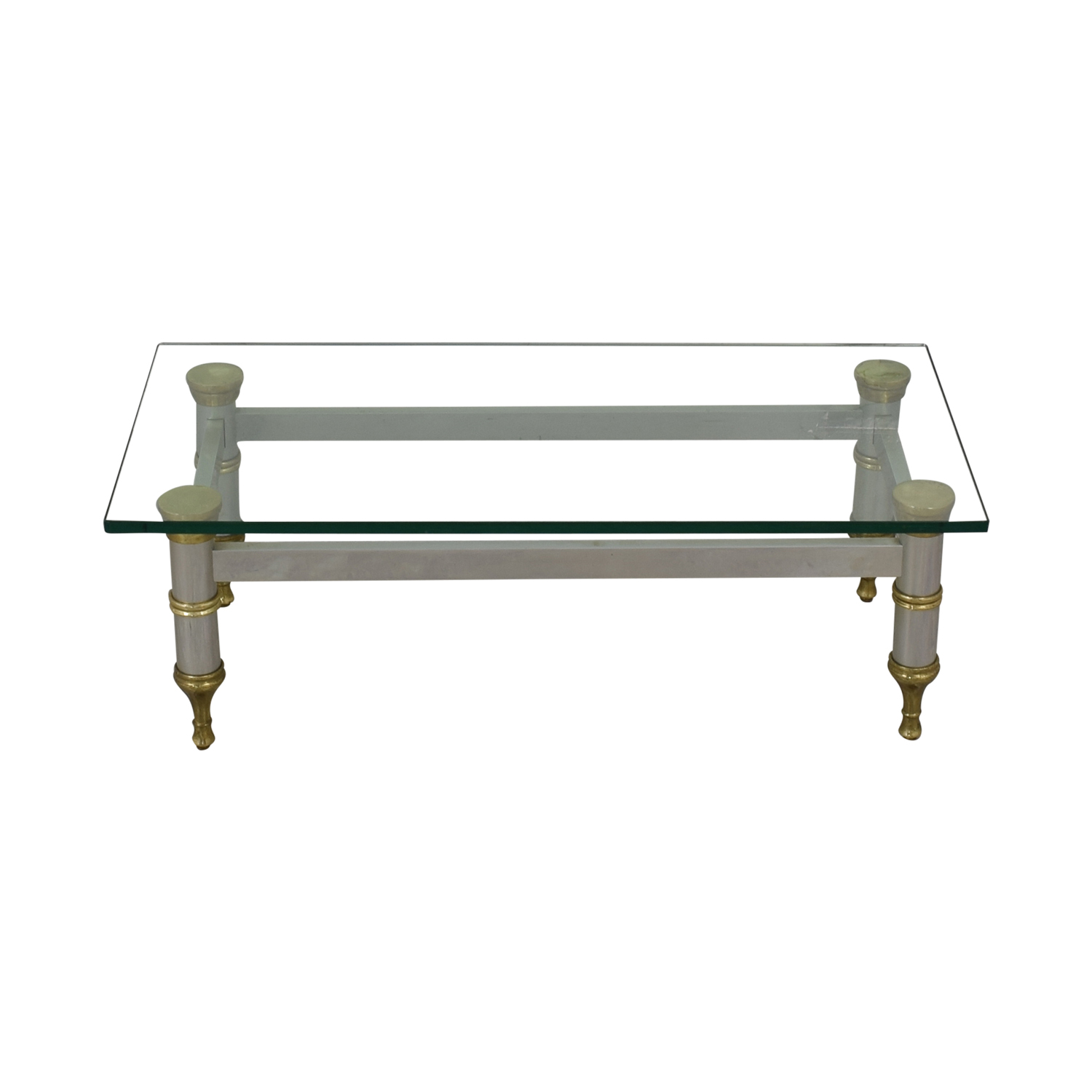 Glass Topped Coffee Table on sale
