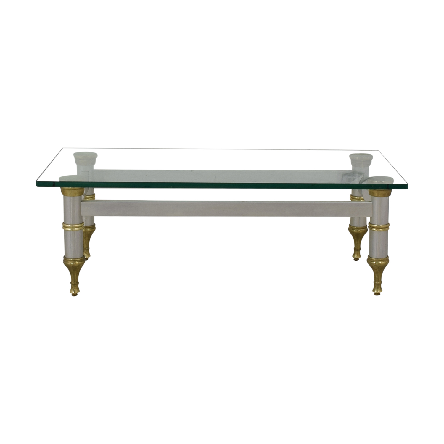 Glass Topped Coffee Table / Tables