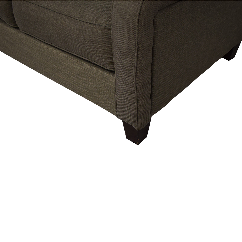 Jennifer Furniture Jennifer Furniture Convertible Sofa Queen Bed dark gray