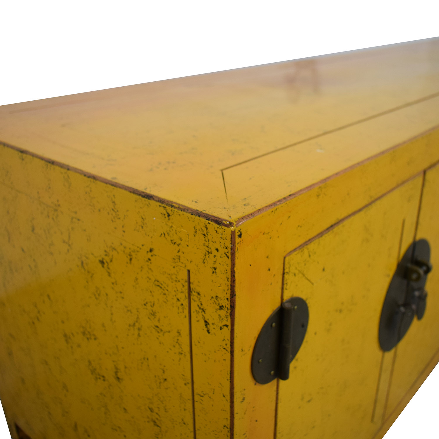 Yellow Vintage Console Table discount
