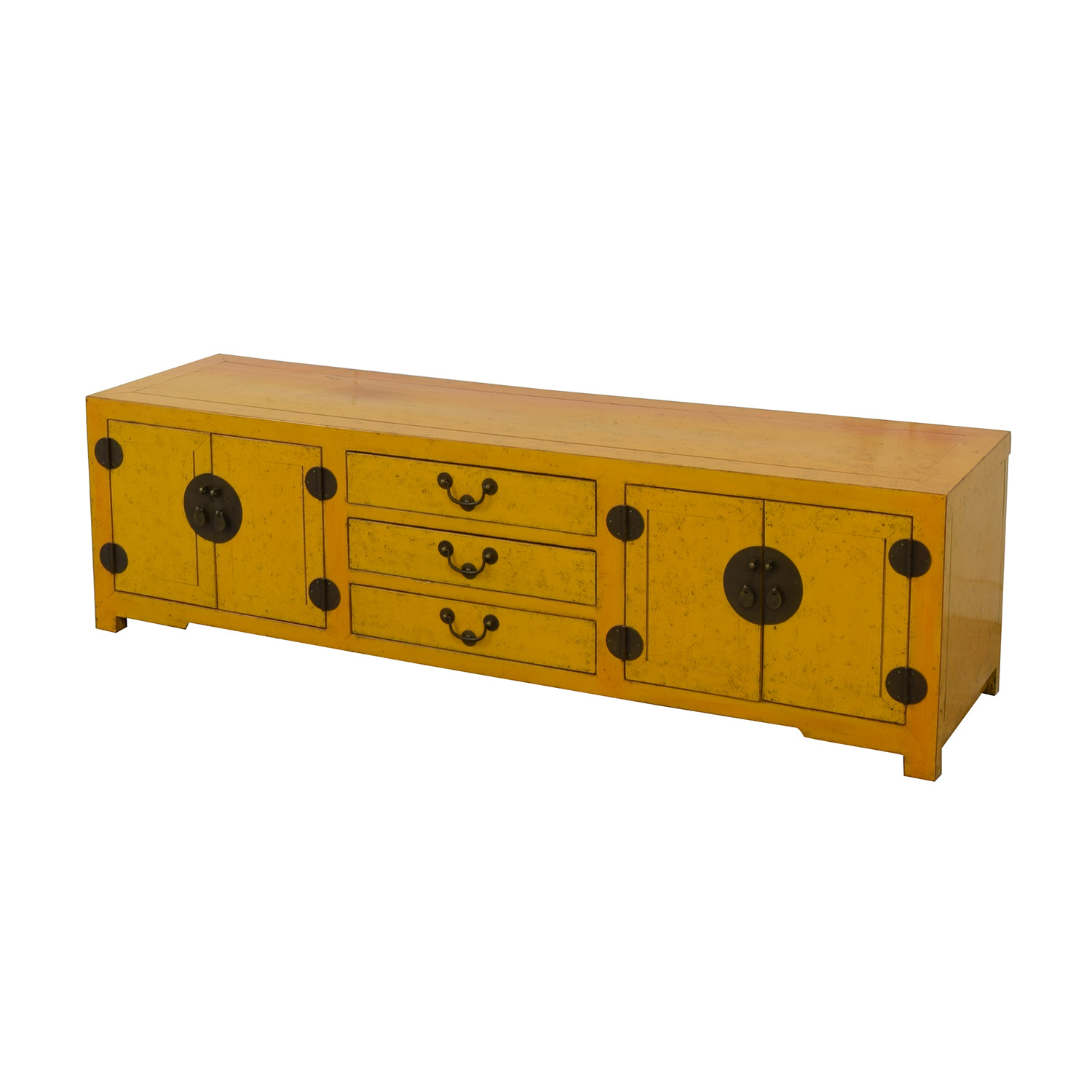 Yellow Vintage Console Table Cabinets & Sideboards