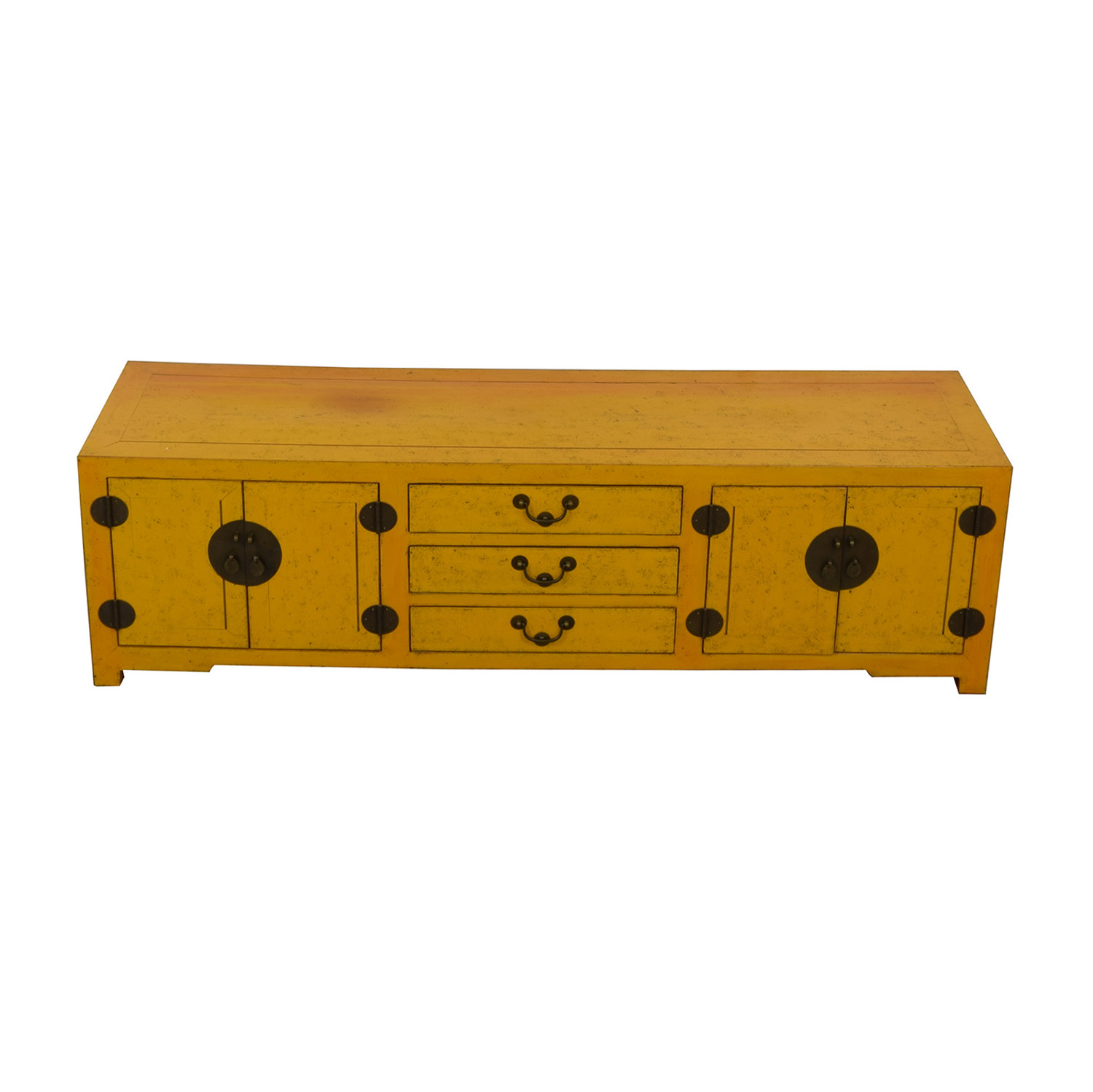 shop Yellow Vintage Console Table  Storage