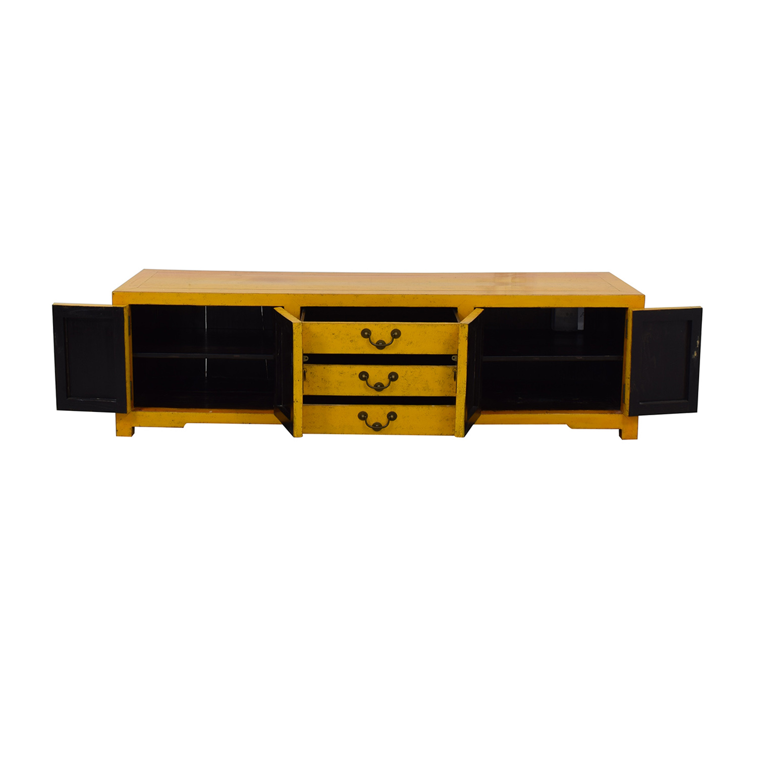 Yellow Vintage Console Table second hand