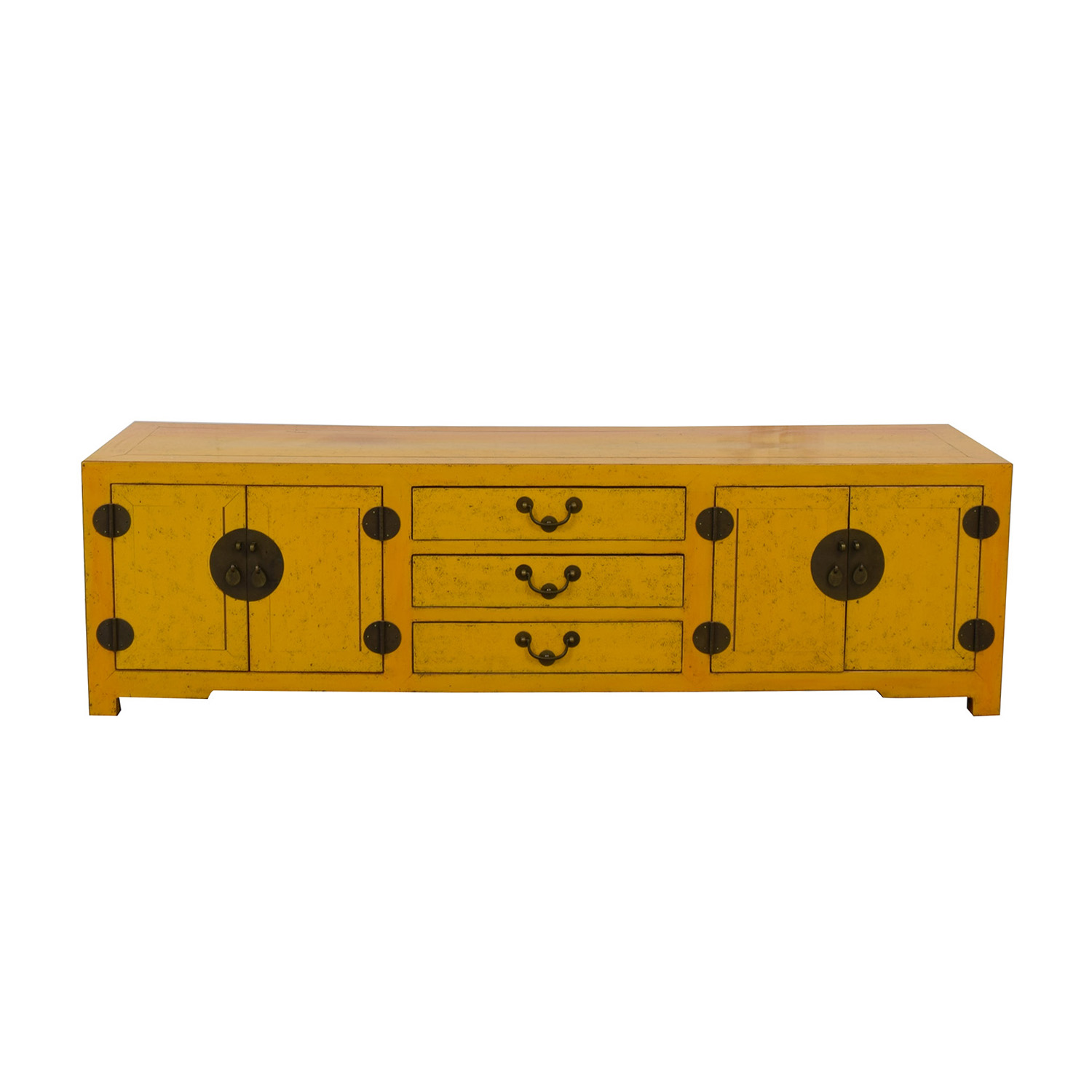 Yellow Vintage Console Table nj