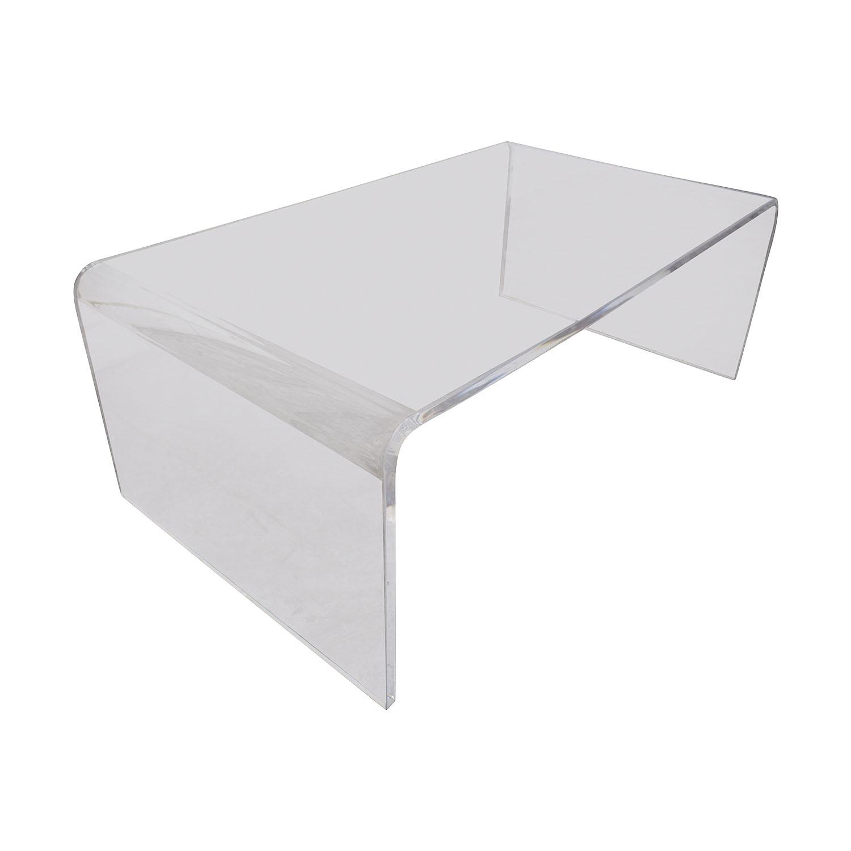 Cost Plus World Market Cost Plus World Market Clear Acrylic Thad Coffee Table Coffee Tables