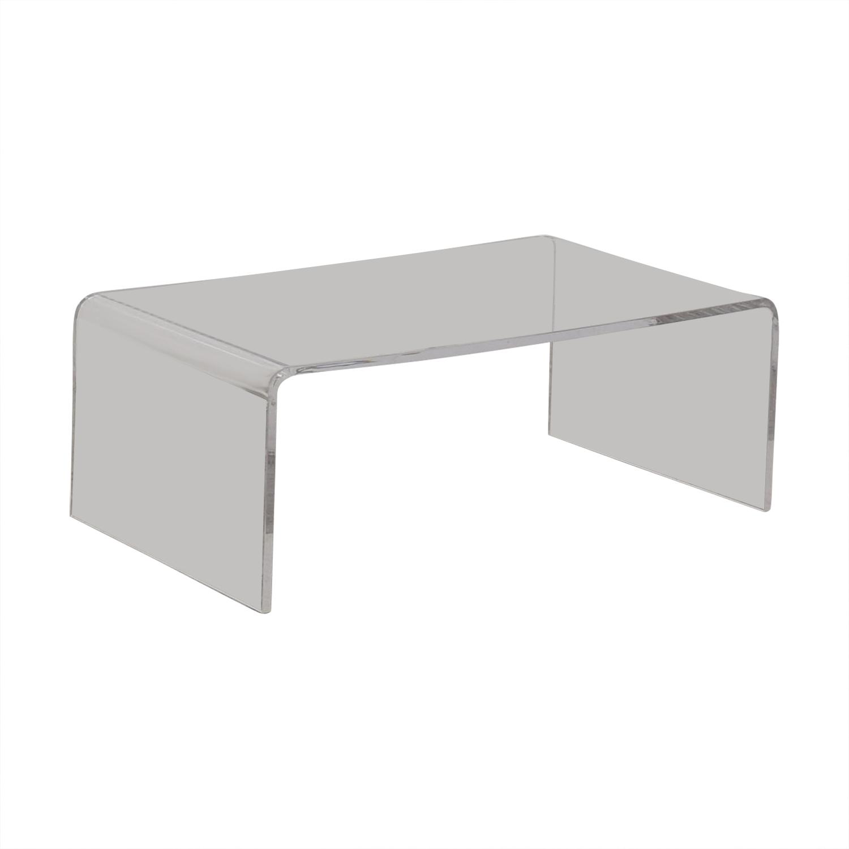 Cost Plus World Market Cost Plus World Market Clear Acrylic Thad Coffee Table dimensions