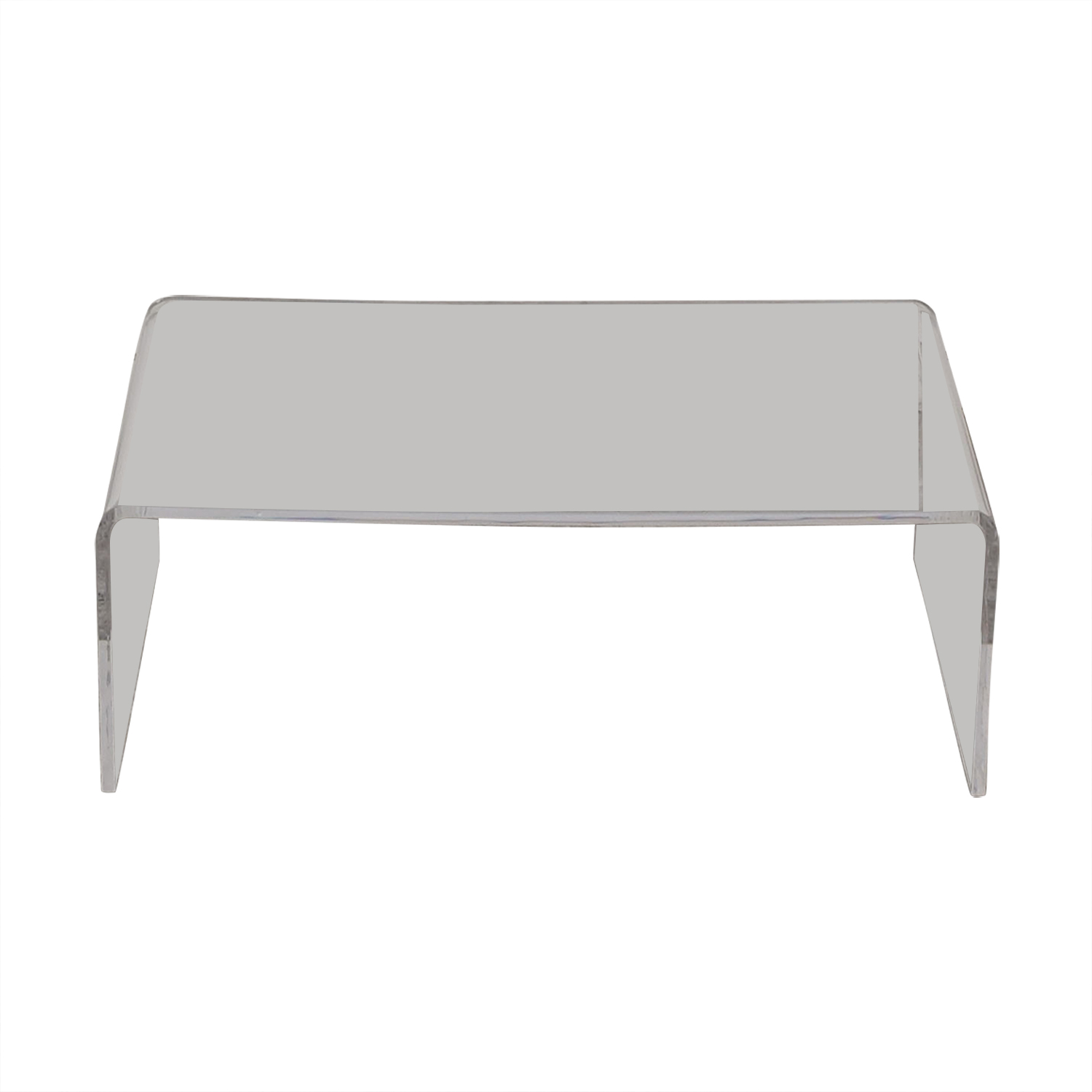Cost Plus World Market Cost Plus World Market Clear Acrylic Thad Coffee Table for sale