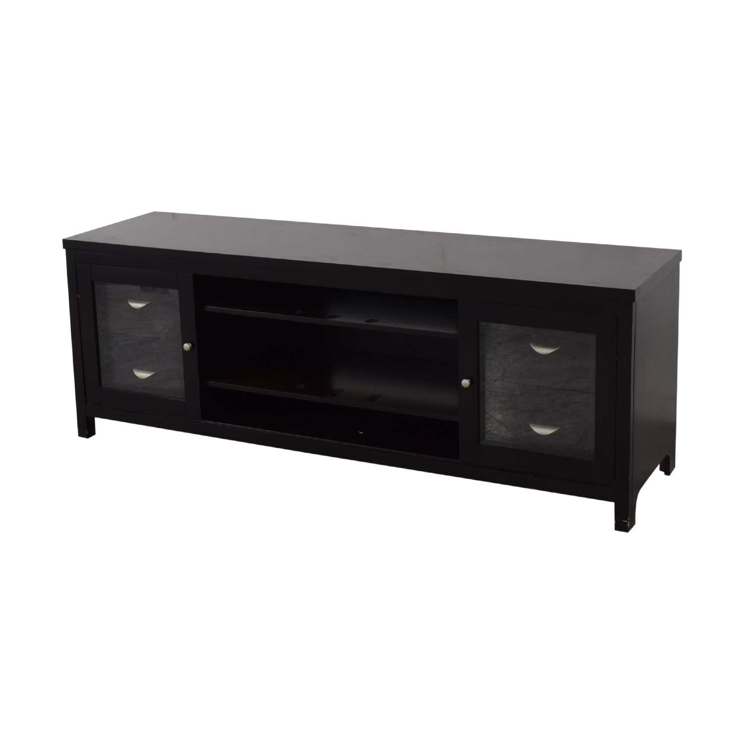 Abbyson Abbyson Clarkston Solid Wood Media Console dimensions