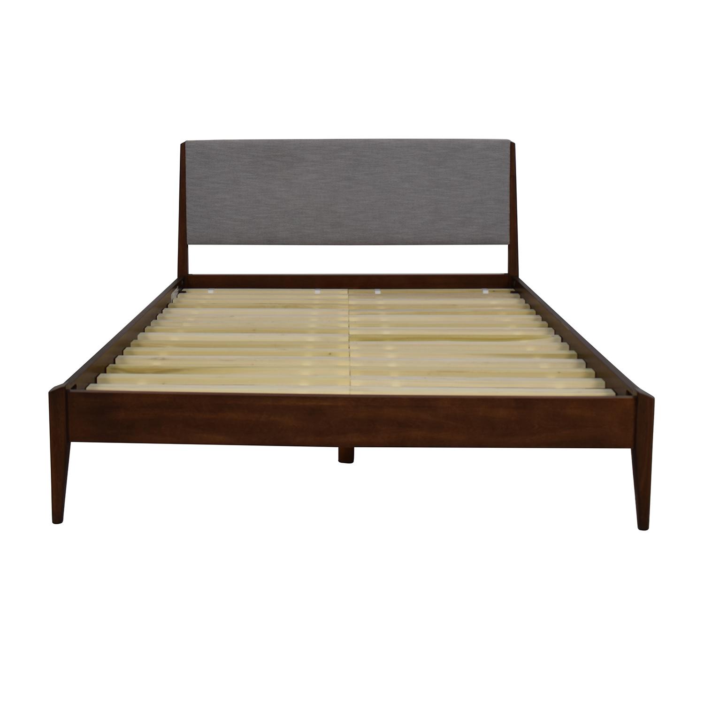 West Elm Modern Show Wood Queen Bed sale