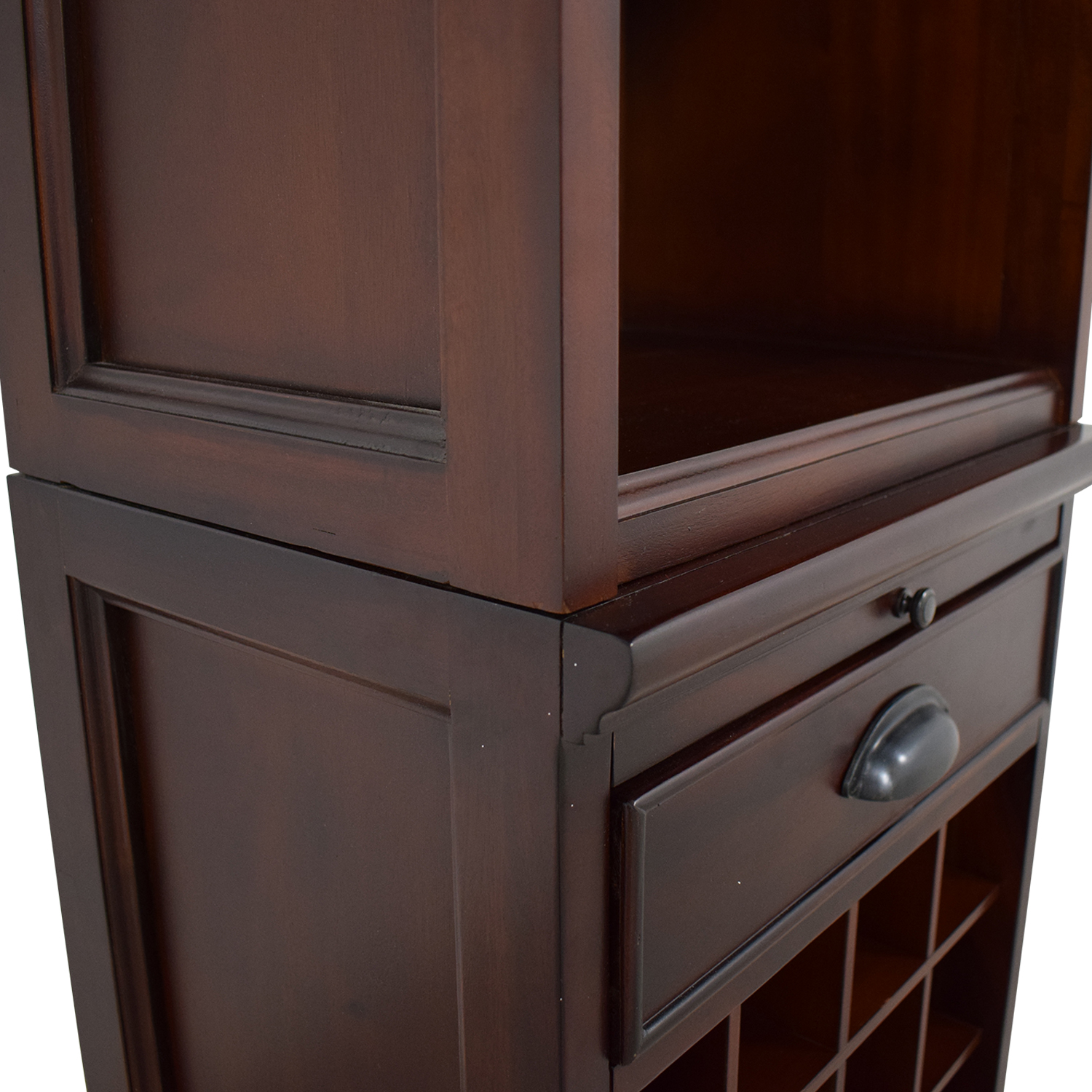 Pottery Barn Pottery Barn Wine Grid Cabinet Bar Tower brown