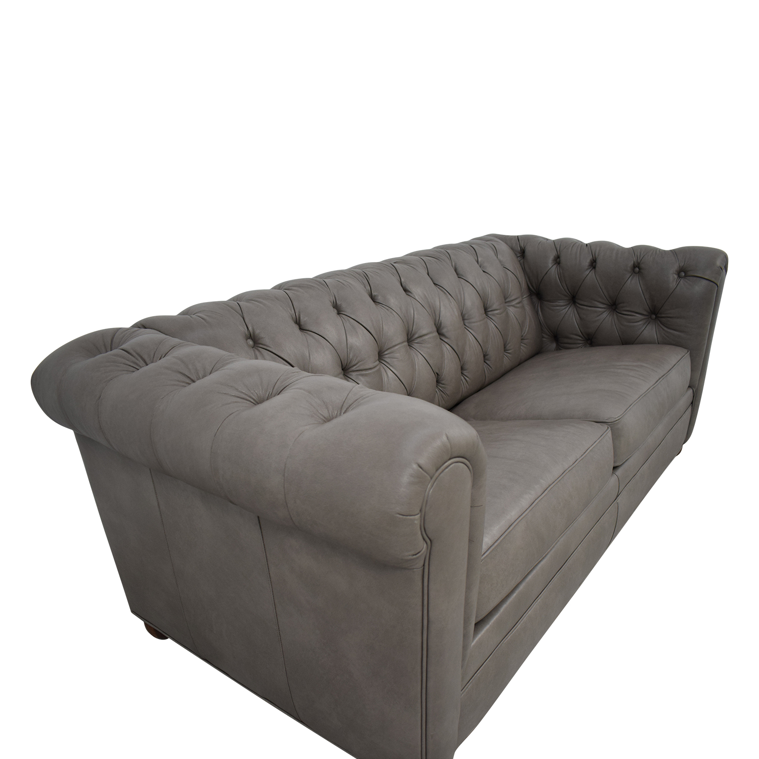 shop Club Furniture Club Furniture Leather Chesterfield Sleeper Sofa online