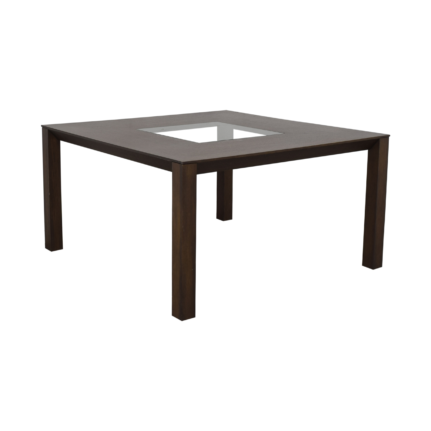 Planum Furniture Square Dining Table with Glass Inlay sale