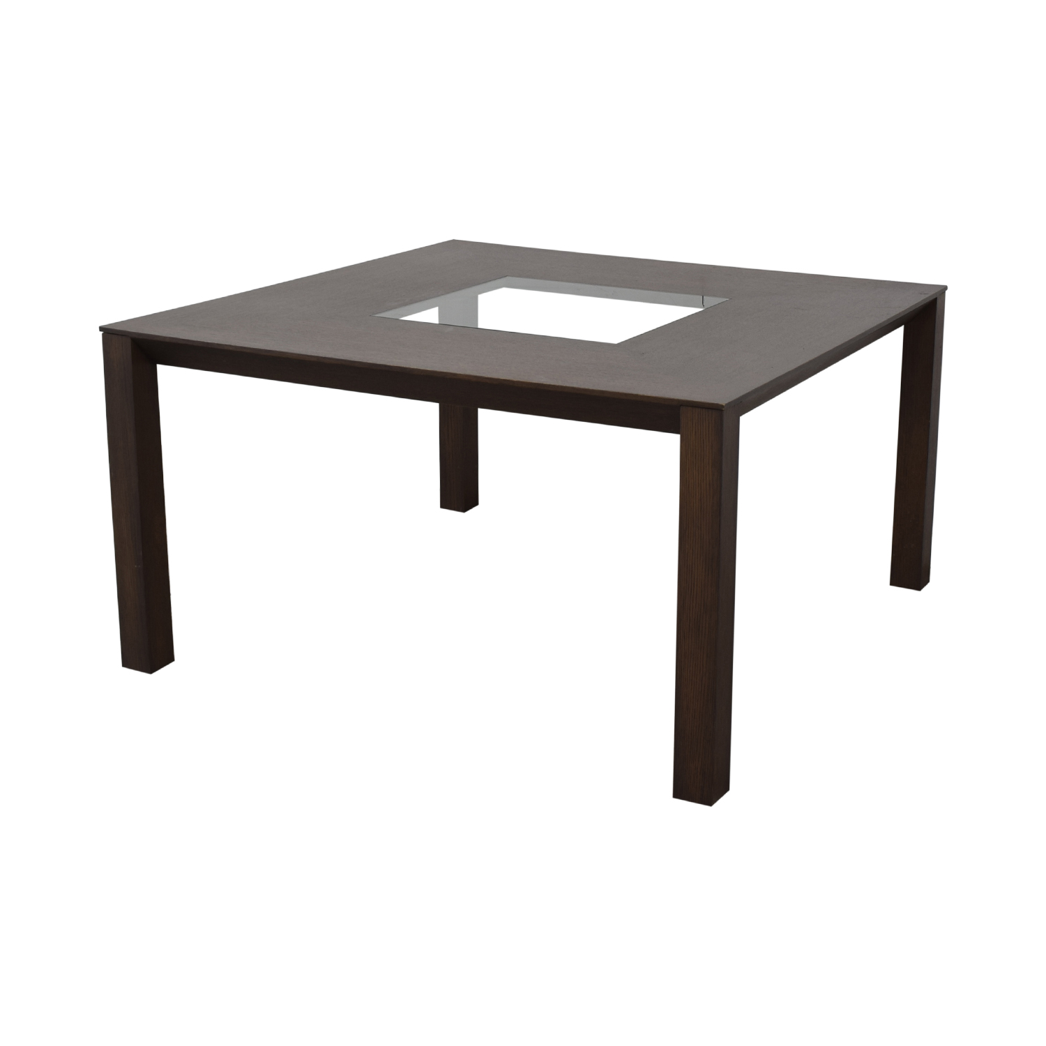 buy Planum Planum Furniture Square Dining Table with Glass Inlay online