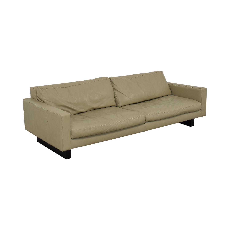 shop Room & Board Hess Leather Sofa Room & Board Classic Sofas