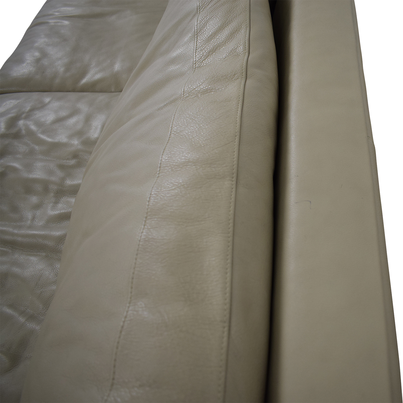 Room & Board Room & Board Hess Leather Sofa Classic Sofas