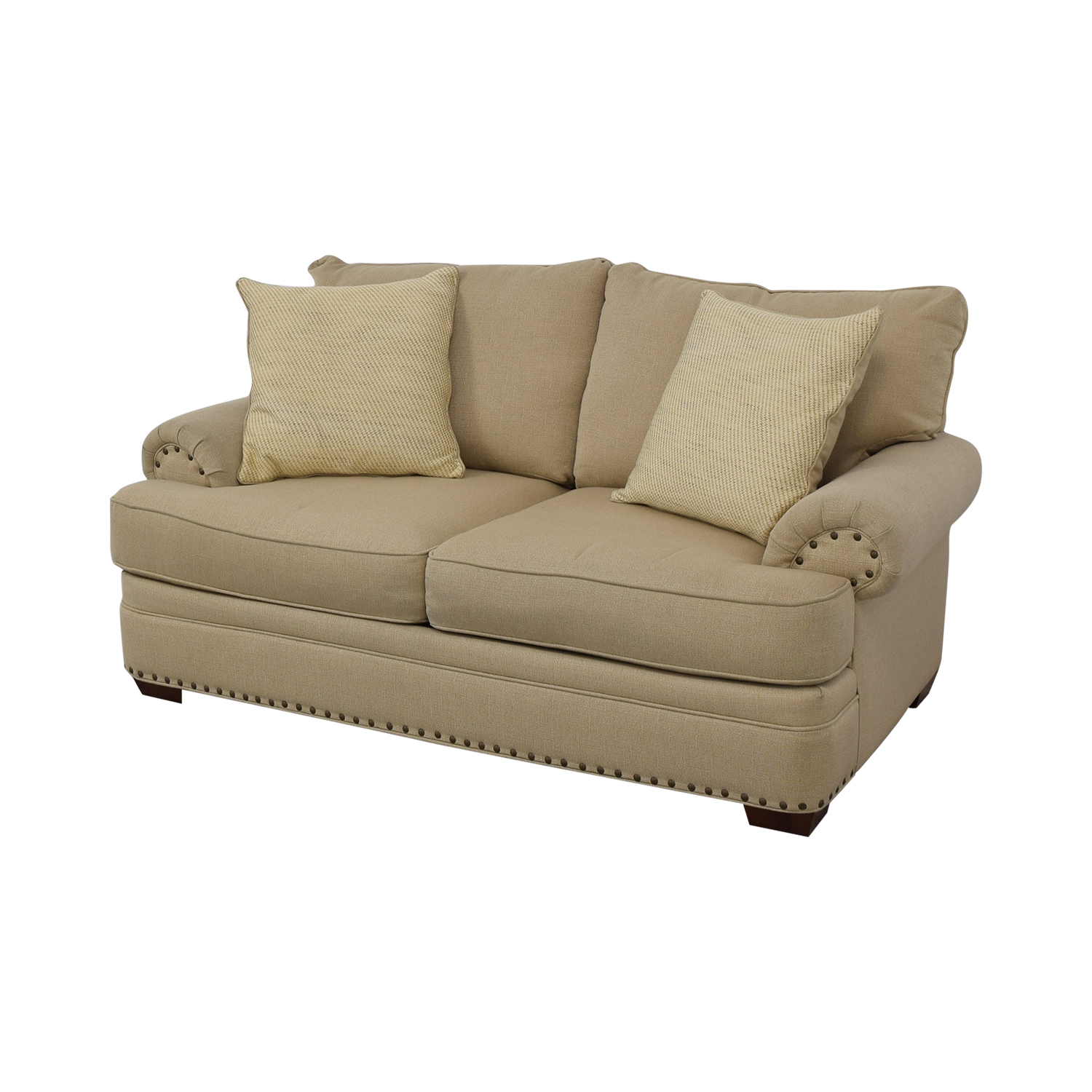 Havertys Havertys Oatmeal Jillian Loveseat nj