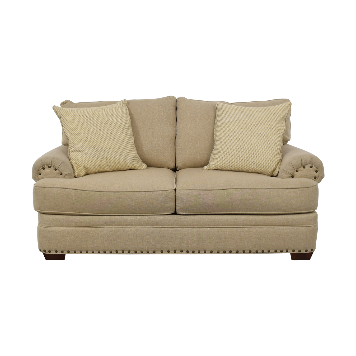 shop Havertys Oatmeal Jillian Loveseat Havertys Loveseats