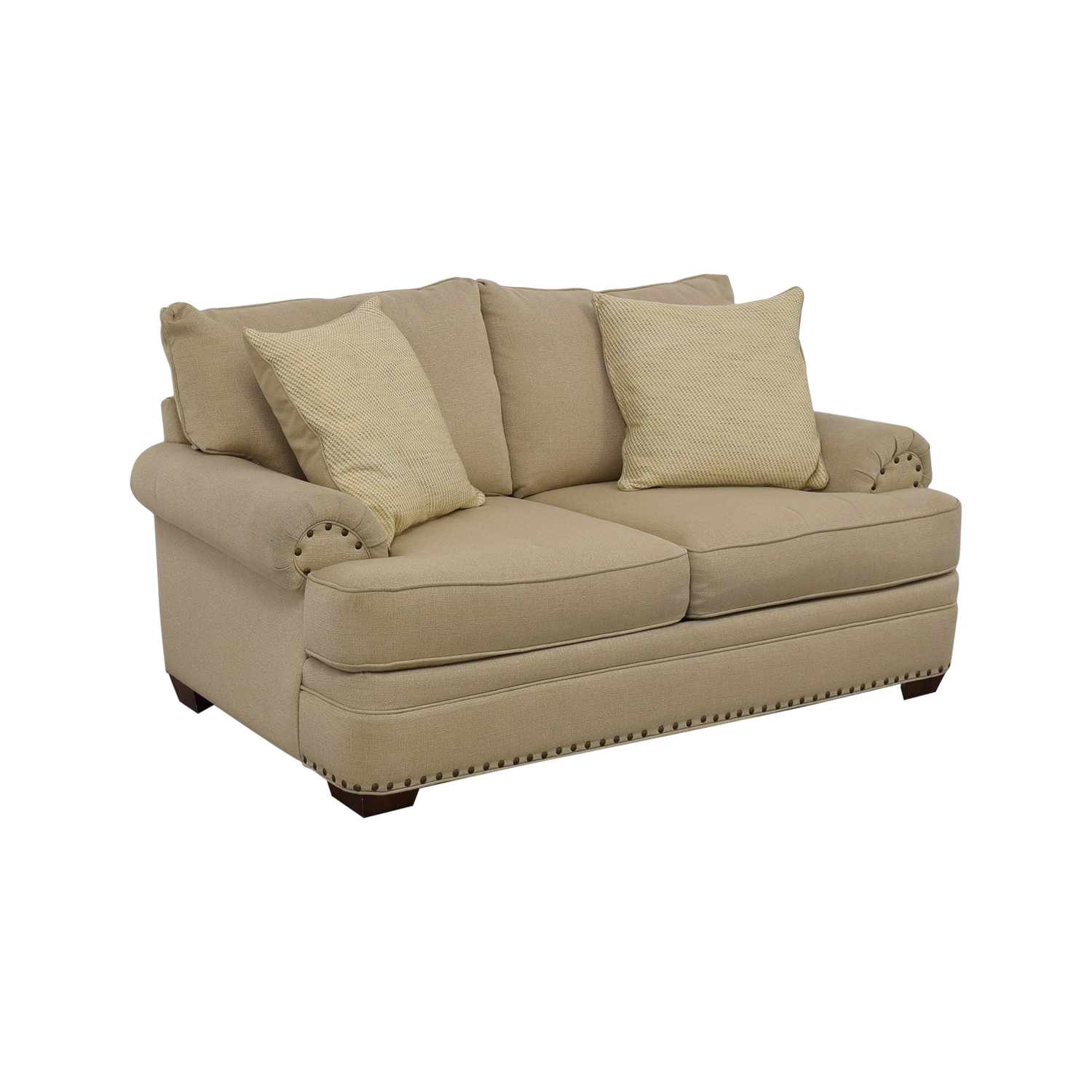 Havertys Havertys Oatmeal Jillian Loveseat nyc