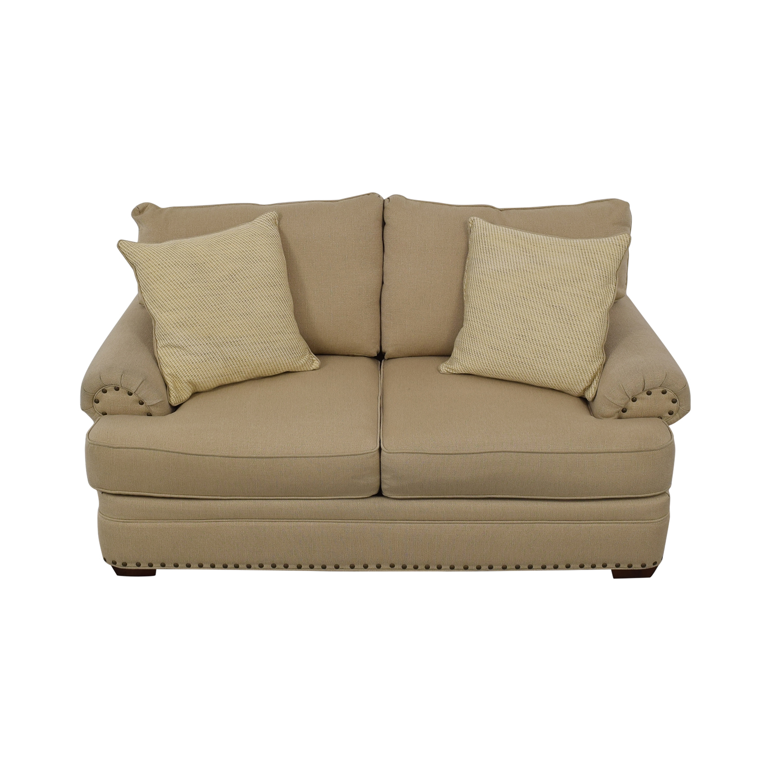 shop Havertys Oatmeal Jillian Loveseat Havertys Sofas