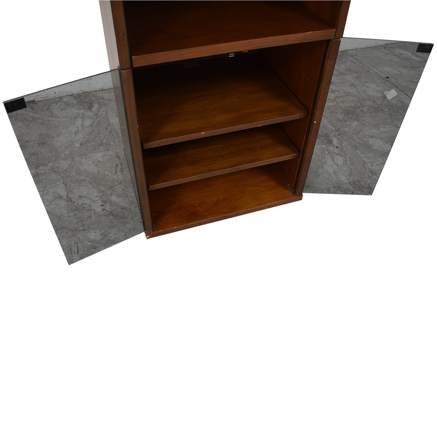 Bookcase with Glass Cabinet / Storage