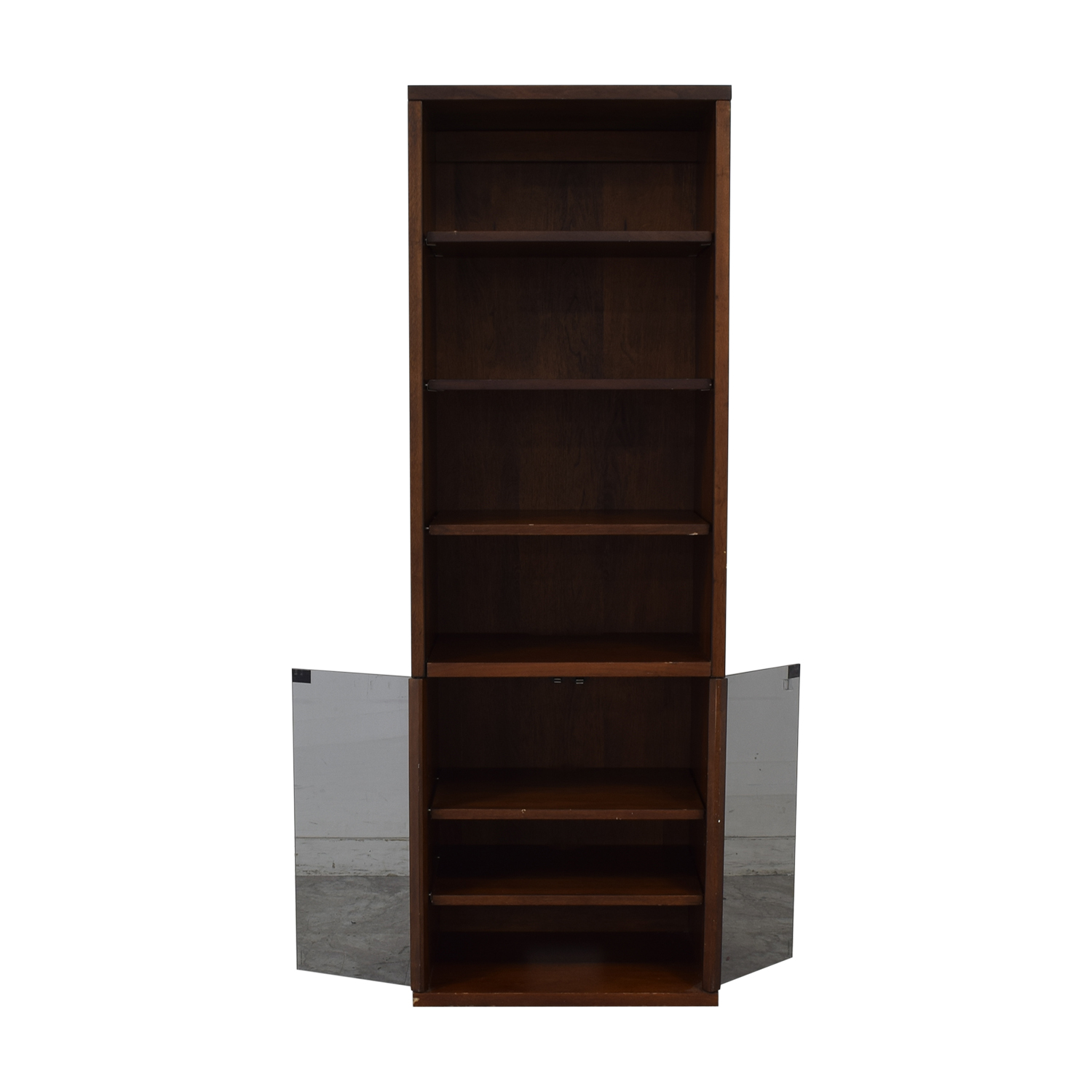 Bookcase with Glass Cabinet for sale