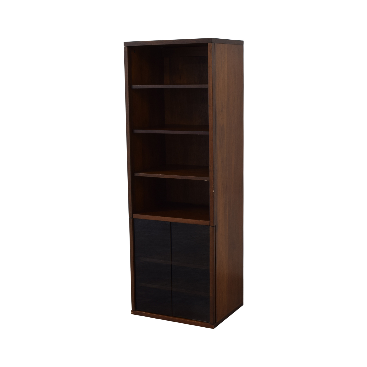shop Bookcase with Glass Cabinet