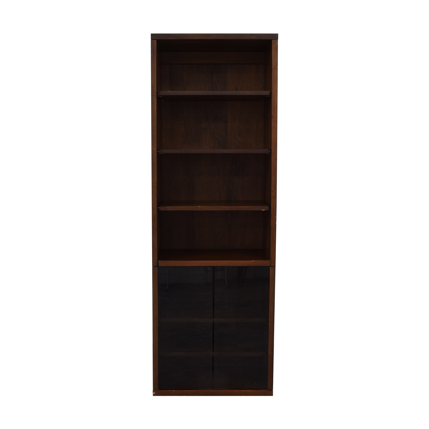 Bookcase with Glass Cabinet / Bookcases & Shelving