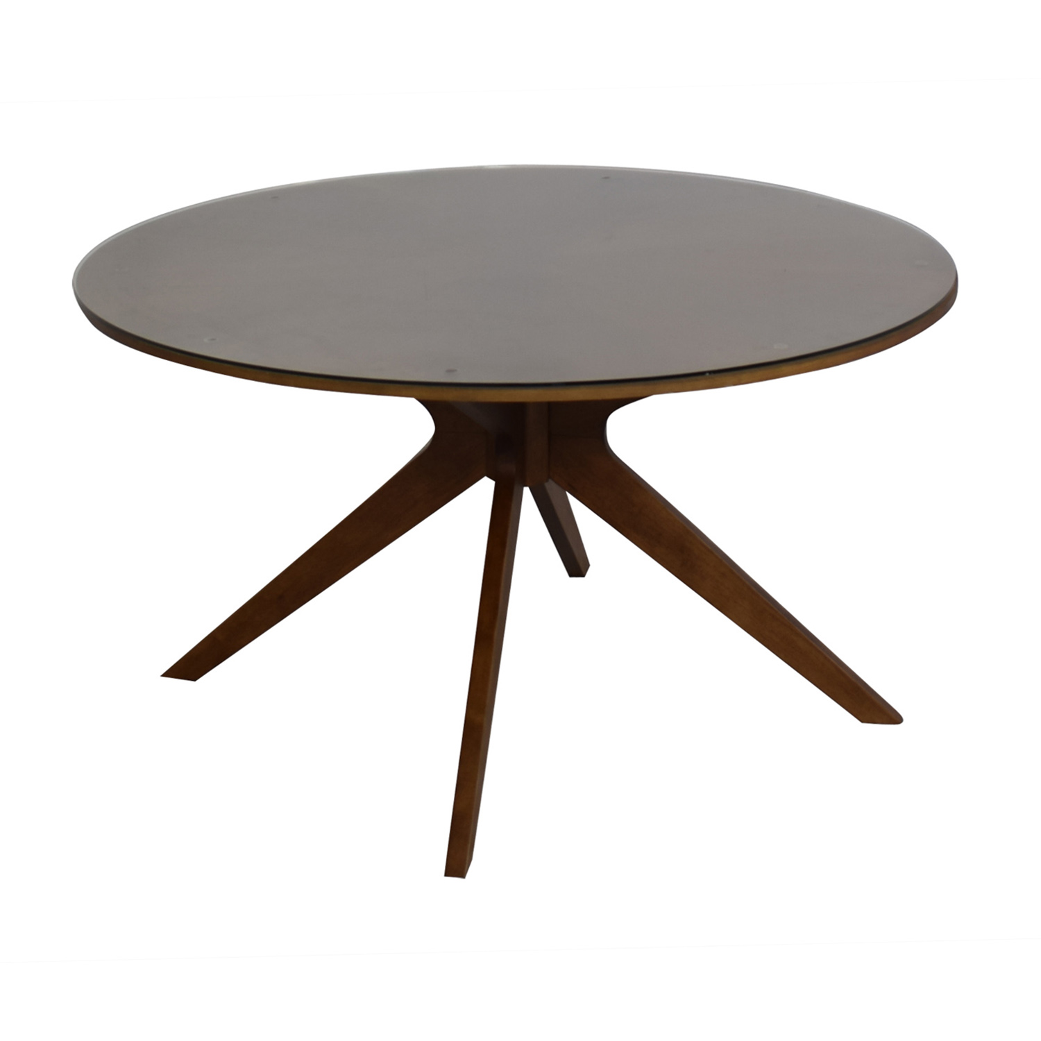 Article Article Midcentury Modern Round Table with Glass Top nj