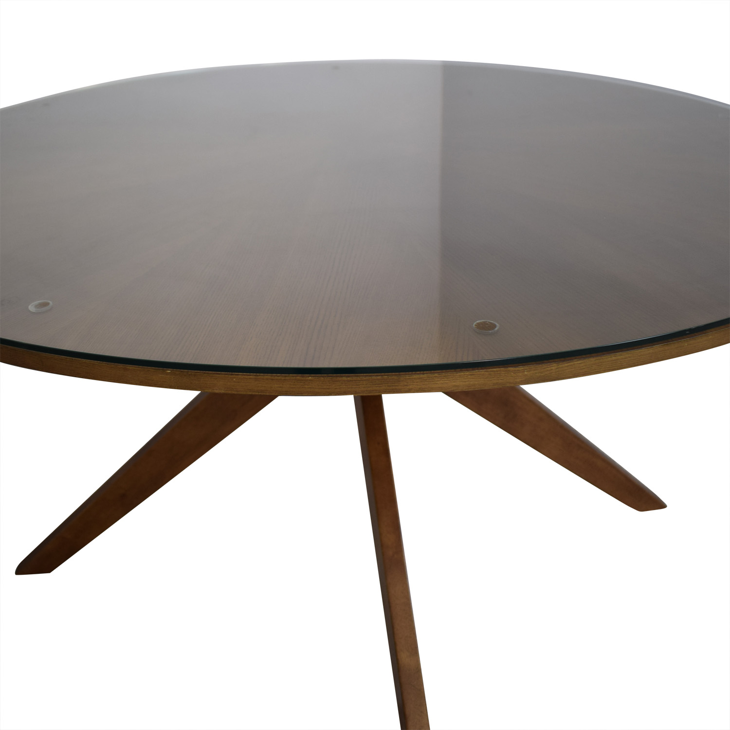 Article Article Midcentury Modern Round Table with Glass Top used