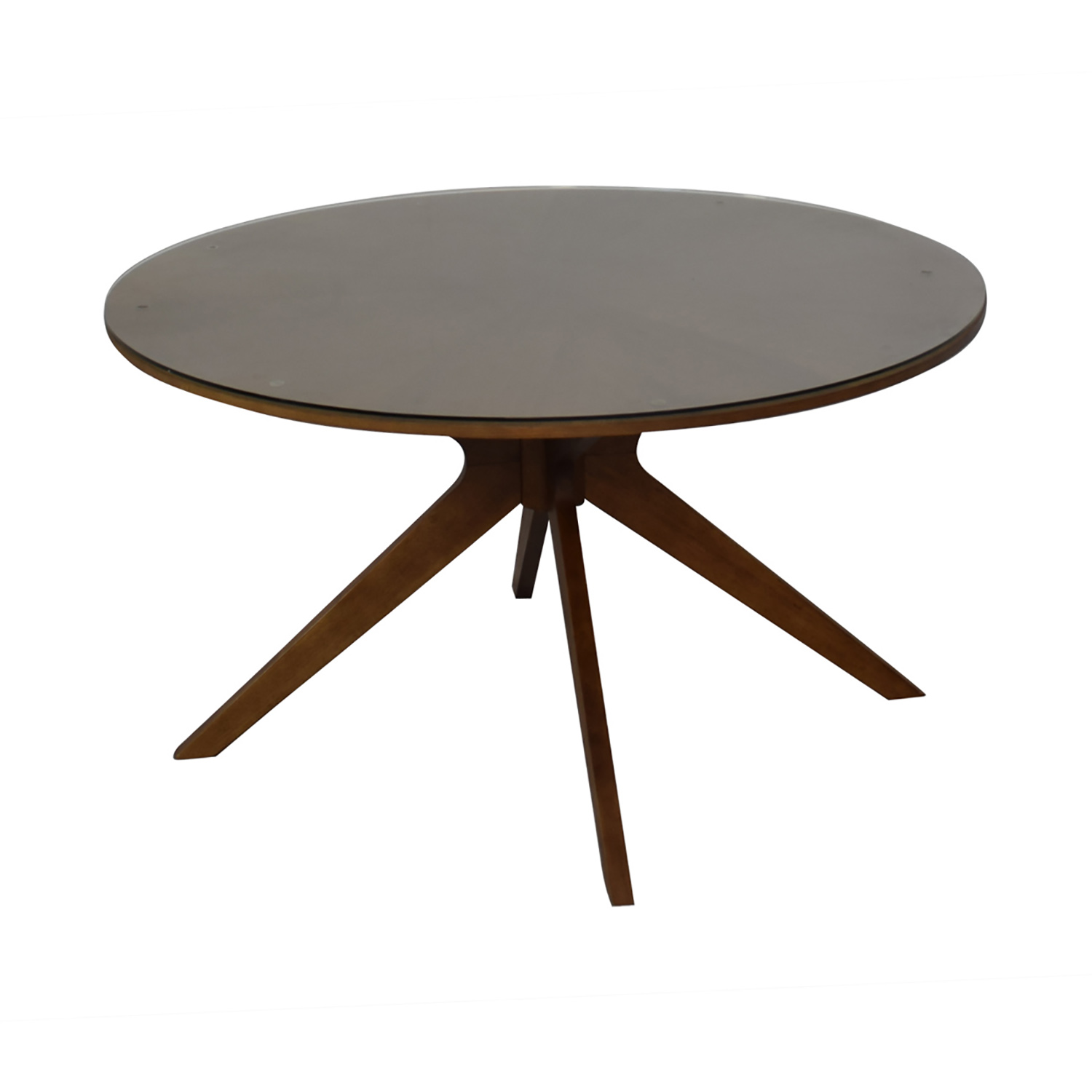 buy Article Midcentury Modern Round Table with Glass Top Article Dinner Tables