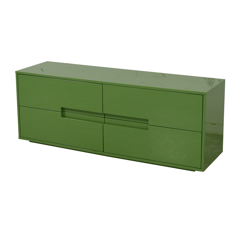 CB2 CB2 Latitude Green Low Dresser Storage