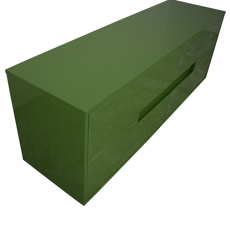 CB2 Latitude Green Low Dresser / Storage