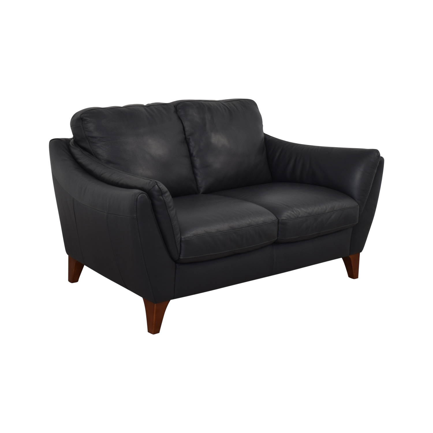 buy Raymour & Flanigan Greccio Leather Loveseat Raymour & Flanigan Loveseats