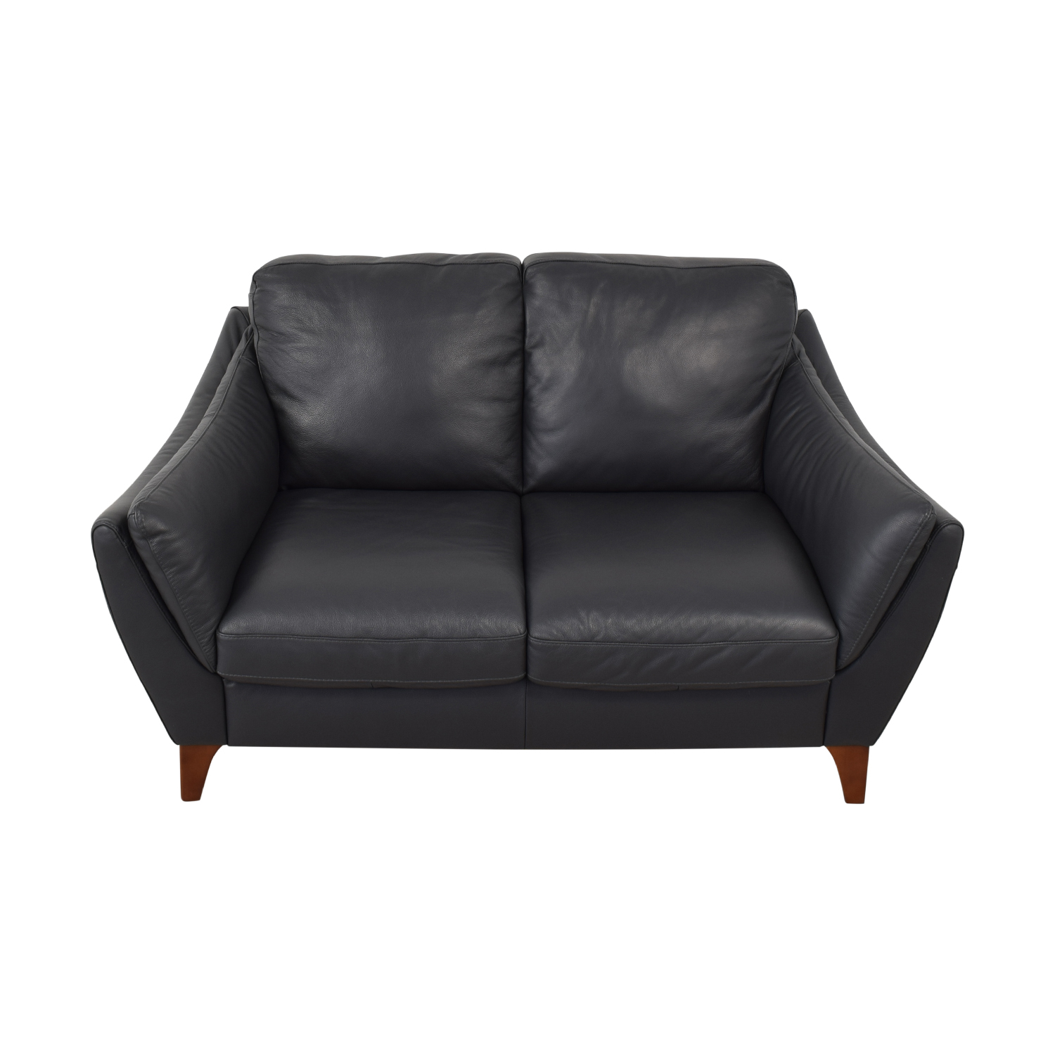 Raymour & Flanigan Raymour & Flanigan Greccio Leather Loveseat price